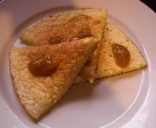 Almond Flour-Sour Milk Oven Pancake with Greengage Plum Butter.